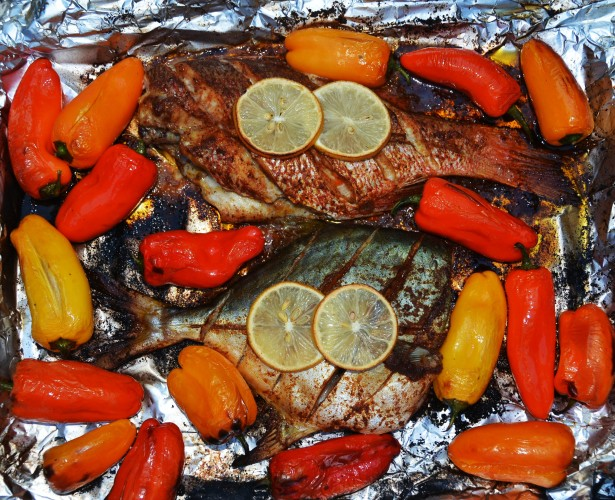 Grilled Red Snapper and Pompano