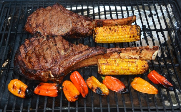 cowboy-cut-steaks-and-vegetables