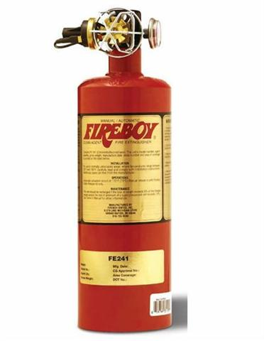 We have 4 inspected commercial fire extinguishers on board our boat.