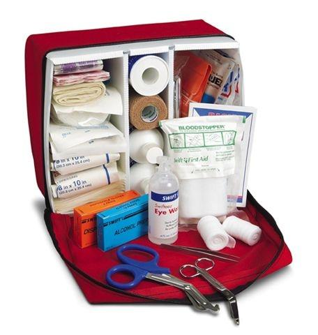 Our boat has a first aid kit available.