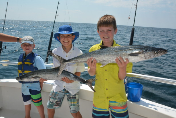 Kingfish are plentiful and offer a fun fight for every angler.