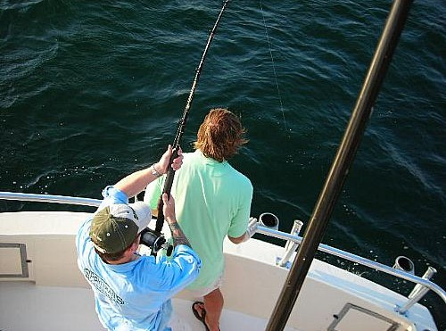 Bull Shark Fishing in Orange Beach Alabama with Team Chuck Hutton Chevrolet.