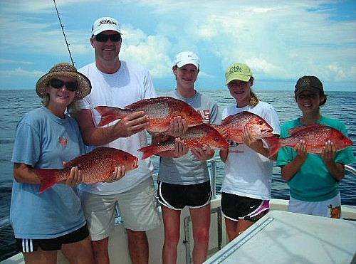 Family Fishing in Gulf Shores for Red Snapper