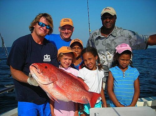 Kids Red Snapper Deep Sea Family Fishing in Orange Beach