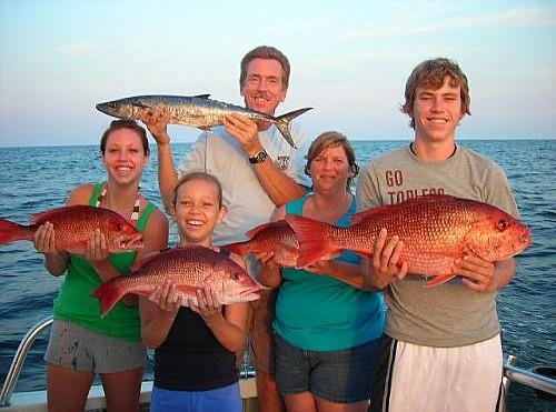 Missouri Family enjoys a laid back day deep sea fishing