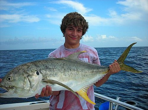Alabama Yellowfin Jack Crevalle Caught While Reef Fishing For Red Snapper