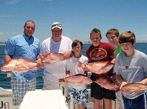 Don Raborn Family Fishing in Orange Beach
