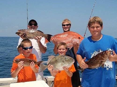 Jim Hogan Family Fishing in Orange Beach