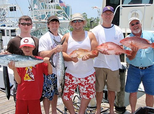 Ridgley Family Fishing Charter In Orange Beach