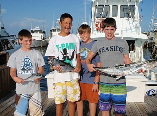 Bell Family trolling fishing trip for King Mackerel