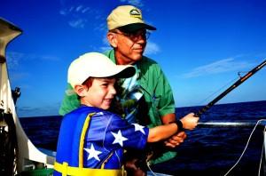 Fishing in Orange Beach with Grandpa