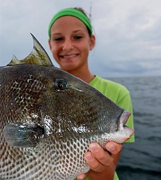 Triggerfish are some of the fish you catch while deep sea fishing in Orange Beach