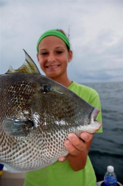 Trigger fish fishing