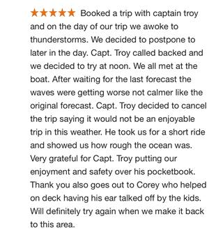 Customer Google Review proving that we will always put your happiness and safety before our personal gain.