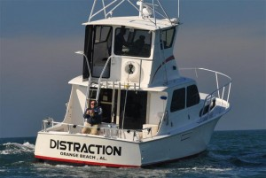 charter boat distraction in Orange Beach