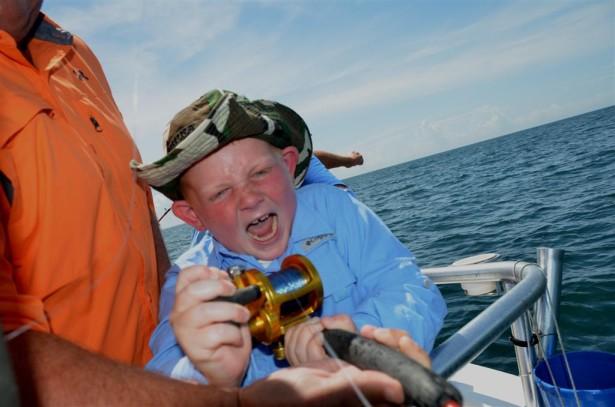 fishing with kids is fun