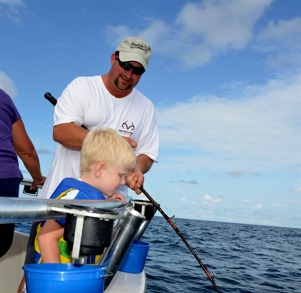 Father son deep sea fishing distraction charters for Father son fishing