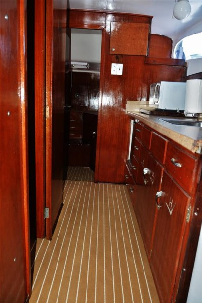 kitchen of charter boat